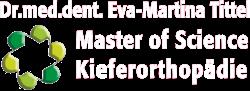 Kieferorthopädische Praxis Koblenz, Frau Dr. Eva-Martina Tittel Logo